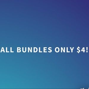 ALL BUNDLES ONLY $4!!